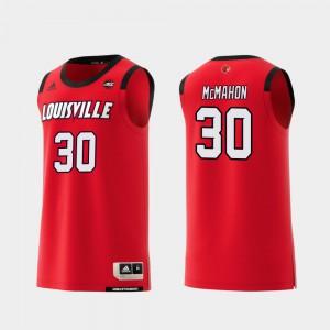 Men's U of L #30 Ryan McMahon Red Replica College Basketball Jersey 884432-115