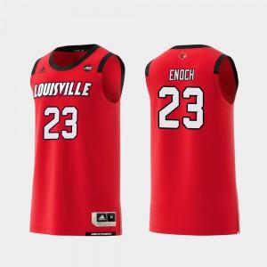 Men's Cardinal #23 Steven Enoch Red Replica College Basketball Jersey 639048-520