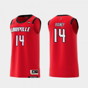 For Men Louisville Cardinals #14 Will Rainey Red Replica College Basketball Jersey 944488-236