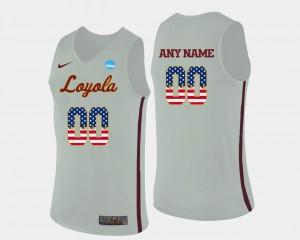 Men Ramblers #00 White US Flag Fashion Basketball Customized Jerseys 723081-961