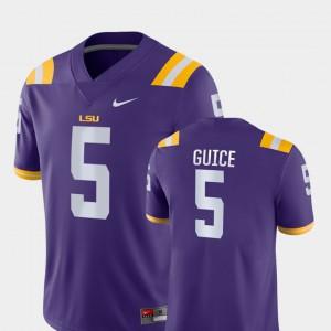 Men LSU #5 Derrius Guice Purple Game College Football Jersey 996980-908
