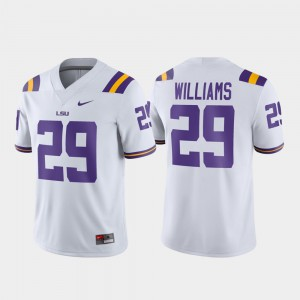Mens LSU Tigers #29 Greedy Williams White Game Football Jersey 721617-987