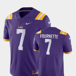 Mens LSU Tigers #7 Leonard Fournette Purple Game College Football Jersey 791914-408