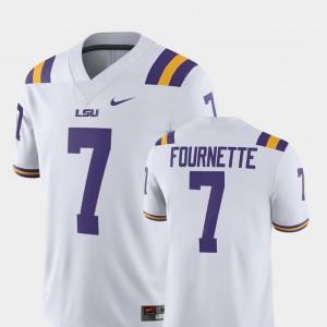 For Men Louisiana State Tigers #7 Leonard Fournette White Alumni Football Game Player Jersey 656129-717