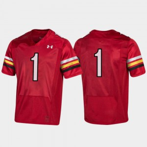 Men Maryland #1 Red 150th Anniversary College Football Replica Jersey 923975-558