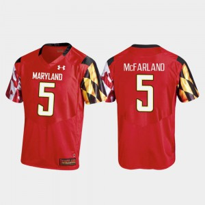 Mens Terrapins #5 Anthony McFarland Red College Football Replica Jersey 664498-936