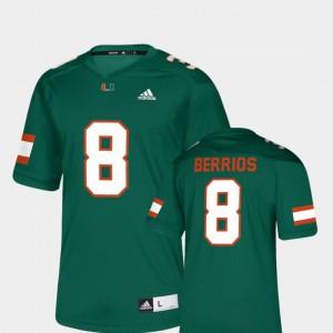 For Men Miami #8 Braxton Berrios Green NFLPA Alumni Chase Replica Jersey 160112-818