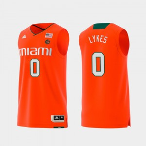 For Men UM #0 Chris Lykes Orange Replica Swingman College Basketball Jersey 917683-511