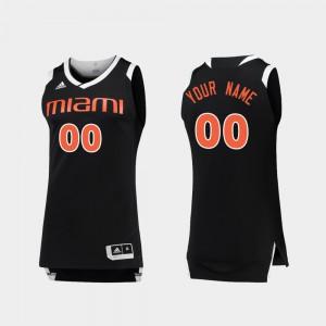 For Men Miami Hurricanes #00 Black White College Basketball Chase Custom Jersey 296685-524