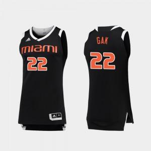 Men UM #22 Deng Gak Black White College Basketball Chase Jersey 726409-392