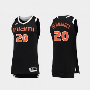 Men's UM #20 Dewan Hernandez Black White College Basketball Chase Jersey 113404-200