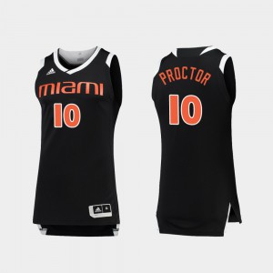 For Men Hurricanes #10 Dominic Proctor Black White College Basketball Chase Jersey 946209-216