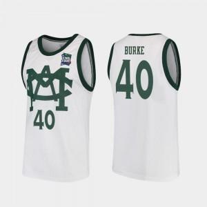 Mens Michigan State Spartans #40 Braden Burke White 2019 Final-Four Vault MAC Replica Jersey 113652-645
