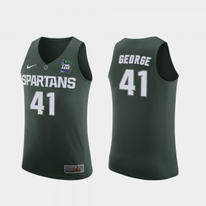 For Men's Michigan State University #41 Conner George Green 2019 Final-Four Replica Jersey 301144-298