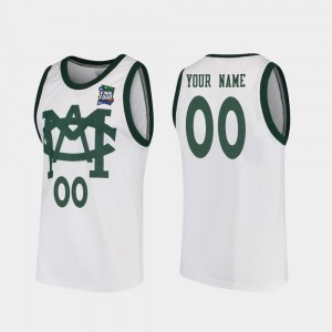 For Men's Spartans #00 White 2019 Final-Four Vault MAC Replica Custom Jersey 478339-424