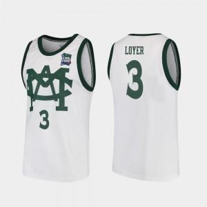 For Men Spartans #3 Foster Loyer White 2019 Final-Four Vault MAC Replica Jersey 177798-347