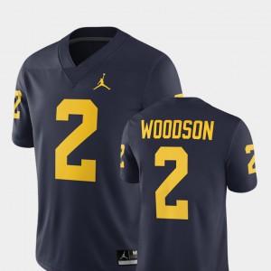 Men Michigan #2 Charles Woodson Navy Alumni Football Game 2018 Jersey 724631-951