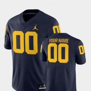 Men's U of M #00 Navy College Football 2018 Game Customized Jersey 662159-990