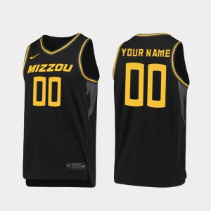 For Men's Missouri #00 Black Replica 2019-20 College Basketball Customized Jerseys 564895-937