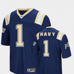 Men United States Naval Academy #1 Navy Foos-Ball Football Colosseum Jersey 428055-139