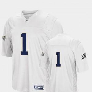 For Men's Midshipmen #1 White College Football Colosseum Jersey 113038-145