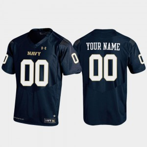 For Men's Navy #00 Navy Replica Football Custom Jersey 936447-712
