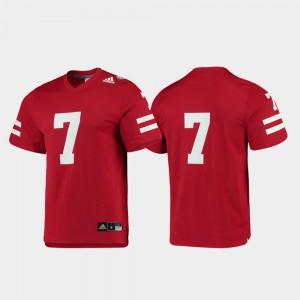 Men's Nebraska #7 Scarlet Replica College Football Jersey 581007-409