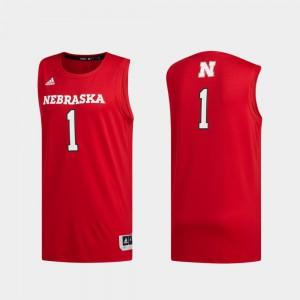 Men University of Nebraska #1 Scarlet Basketball Swingman Swingman Basketball Jersey 641562-331