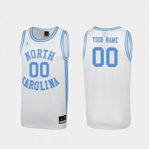 Men's UNC Tar Heels #00 White March Madness Special College Basketball Customized Jersey 176573-886