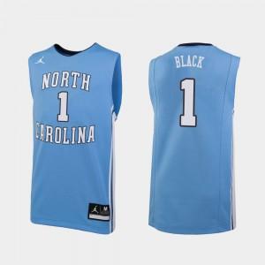 Mens Tar Heels #1 Leaky Black Carolina Blue Replica College Basketball Jersey 726575-546