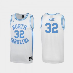 For Men UNC #32 Luke Maye White March Madness Special College Basketball Jersey 554083-831