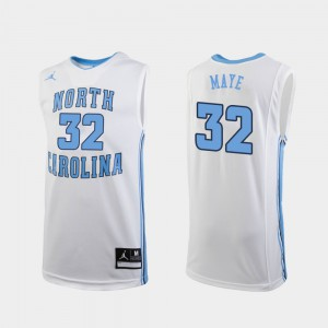 For Men North Carolina Tar Heels #32 Luke Maye White Replica College Basketball Jersey 576187-742