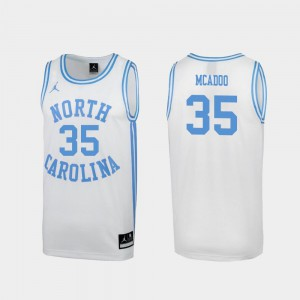 Men's North Carolina Tar Heels #35 Ryan McAdoo White March Madness Special College Basketball Jersey 710291-442