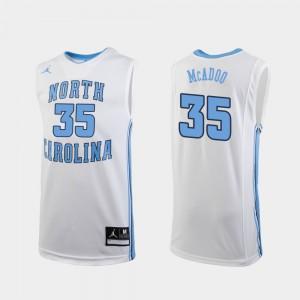 Mens Tar Heels #35 Ryan McAdoo White Replica College Basketball Jersey 522058-964