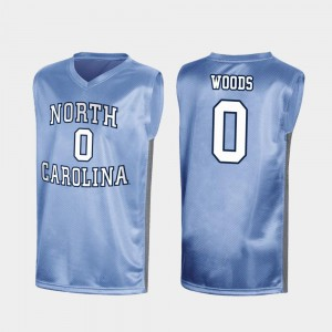 Mens North Carolina #0 Seventh Woods Royal March Madness Special College Basketball Jersey 135044-938