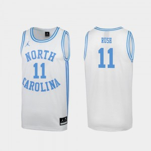 For Men North Carolina Tar Heels #11 Shea Rush White March Madness Special College Basketball Jersey 469875-606