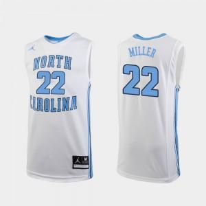 For Men UNC #22 Walker Miller White Replica College Basketball Jersey 128306-576