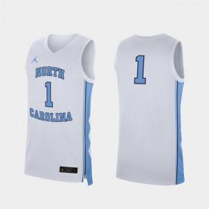 Mens UNC #1 White Replica College Basketball Jersey 504466-245