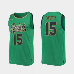 For Men Notre Dame #15 Chris Doherty Kelly Green Replica 2019-20 College Basketball Jersey 926200-565