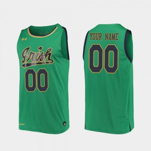 For Men's ND #00 Kelly Green Replica 2019-20 College Basketball Customized Jerseys 354174-459