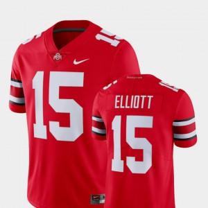 Men Buckeye #15 Ezekiel Elliott Scarlet College Limited Football Alumni Jersey 805671-212