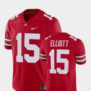 Men Ohio State #15 Ezekiel Elliott Scarlet Alumni Football Game Player Jersey 653193-900