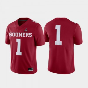 For Men's University Of Oklahoma #1 Crimson 2018 College Football Playoff Game Jersey 946188-461