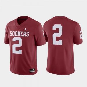Men's Sooners #2 Crimson Game College Football Jersey 817920-216