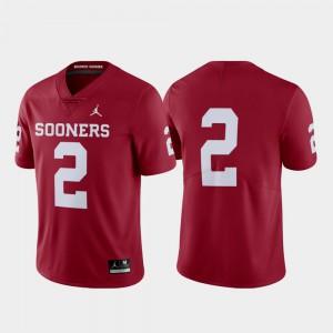 Men University Of Oklahoma #2 Crimson Limited College Football Jersey 170212-666