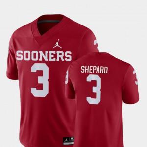 Men's Oklahoma #3 Sterling Shepard Crimson Game College Football Jersey 128920-892