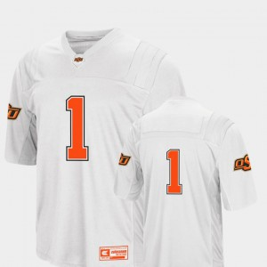 Mens Cowboys #1 White College Football Colosseum 2018 Jersey 259642-169