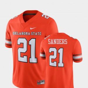 For Men Oklahoma State University #21 Barry Sanders Orange Alumni Football Game Player Jersey 434864-520