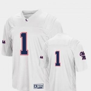 For Men University of Mississippi #1 White College Football Colosseum Jersey 826726-364