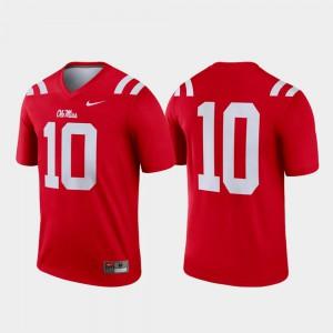 Men Ole Miss #10 Red Legend College Football Jersey 739973-698